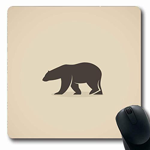 Luancrop Mousepad Längliche Grizzly Brown Eisbär EIS Säugetier Alaska Arktis Kälte Große Design Büro Computer Laptop Notebook Mauspad, Rutschfester Gummi -