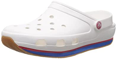 crocs Unisex Retro White and Red Clogs and Mules - M11