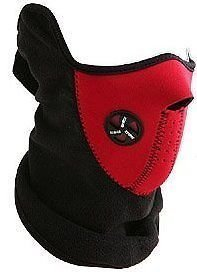 Neoprene Bicycle Motorcycle Snowboard Ski Cycling Half Face Mask With A Cutout For Nose Breathing Neck Warmer For Men And Women - (Red)  available at amazon for Rs.196