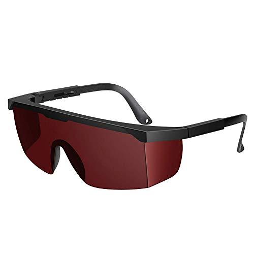 Auratrio Lichtschutzbrille Schutzbrille für die HPL/IPL Haarentfernung für Philip, Braun, Auratrio u.s.w(Rot)