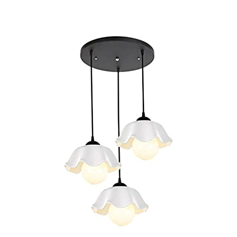GRFH American Country Kronleuchter Restaurant LED Schlafzimmer Wohnzimmer Esszimmer Keramik (Auswahl Innen Anhänger 1 Licht)