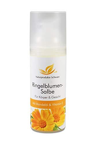 Naturprodukte Schwarz - Ringelblumensalbe mit Mandelöl und Vitamin A + E, 50ml -