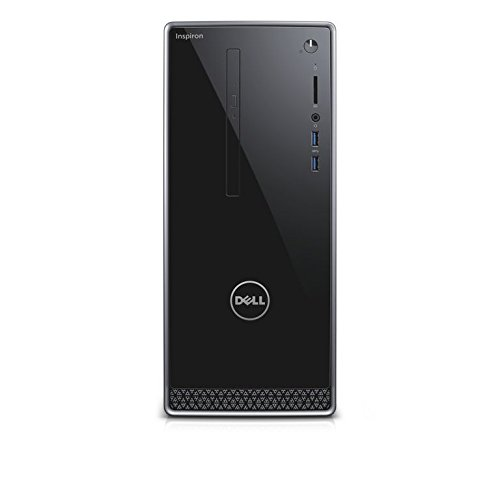 Dell Inspiron DT 3668  Desktop (Intel Core i5-7400, 1TB HDD + 128GB SSD, NVIDIA GeForce GT 1030 with 2GB GDDR5 Graphics Memory, DVD RW, Win 10 Home 64bit German) schwarz mit silberbesatz