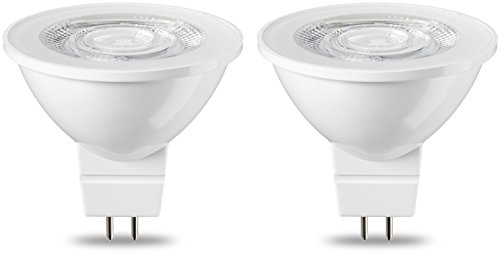 AmazonBasics Spot LED type GU5.3 MR16, 4.5W (équivalent ampoule incandescente de 35W), blanc chaud - Lot de 2