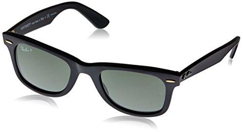 Rayban Unisex-Erwachsene Sonnenbrille Wayfarer, Schwarz (Black), 50