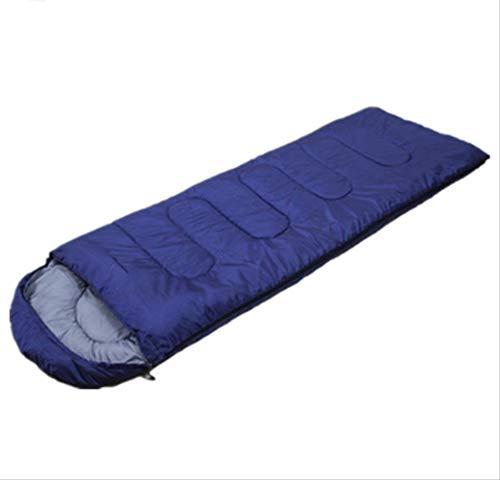 RTGFS Schlafsack Outdoor Camping Erwachsene Umschlag Mit Kappe Schlafsack Ultra Light Warm Outdoor Schlafsack 950G Navy - Coleman Damen Schlafsack