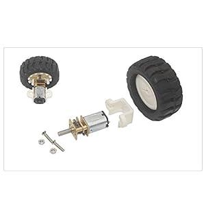 NO LOGO WJN-Motor, 1pc Micro Getriebemotor mit Rad-Kit for Roboter (Farbe : 25 RPM, Größe : 3v DC)