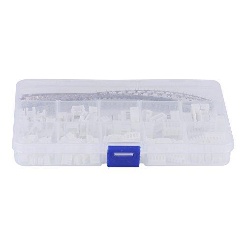 Gehäuse für Kabel-Jumper-Stiftleiste, 350 Stk. 2,54 mm2 3 4 5 6 Pin 18-26AWG Pin-Steckverbinder für Kabelgehäuse