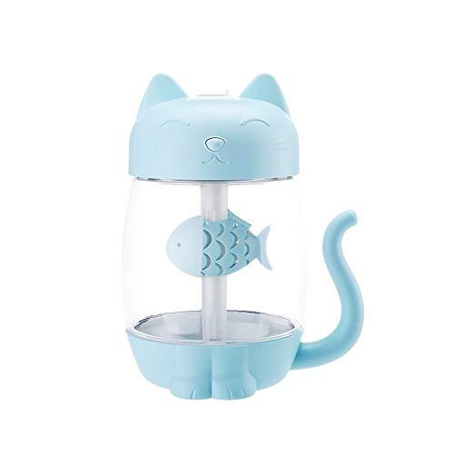 350 ml Luftbefeuchter,3 in 1 Luftreiniger USB Charge Aroma Diffusor Ätherisches Öl Sprayer für Innenräume - blau