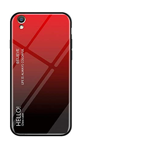 Forhouse Oppo R9 Plus Hülle, Slim Drop Protection Cover, Protective Shell Back - Red