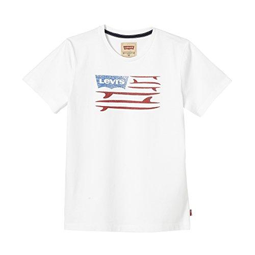 Levi's ss tee surfwing, t-shirt bambino, bianco, 12 anni
