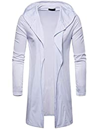 BUSIM Men's Long Sleeve Jacket Hooded Solid Windbreaker Long Sleeve Fashion Slim Jacket Cardigan Solid Color Jacket...