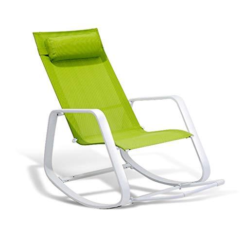 Rocking chair Chaise à Bascule Health UK en Alliage de Fer avec Repose-Pieds imperméable pour Jardin inclinable