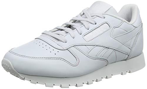 premium selection acc96 6f019 Reebok Cl Lthr, Zapatillas para Mujer, Blanco (Sidestripes-White LGH Grey