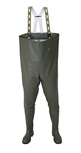 Vadeador Standard , pecho zancudas pescadores Vadeadores - 44 EU - VERDE Pantalones de pesca, botas de pesca , PVC , Alta Calidad
