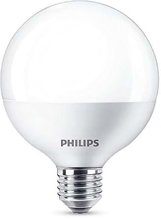 Philips Ampoule LED Globe Culot E27, 15 W equivalent 100W, Blanc Chaud 2700K