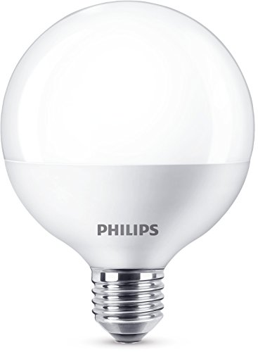 Philips - Bombilla LED globo E27, 9.5 W, equivalente a 60 W, blanco cálido, 806 lúmenes, no regulable