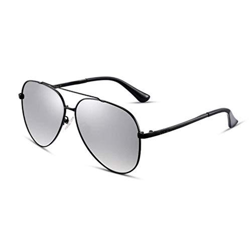 JOLLY Pilot Sonnenbrillen Herren Polarized Sunglasses Womens Mirrored Lens Unisex Erwachsene Sonnenbrillen (Farbe : Gray)