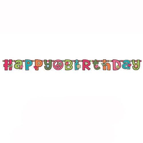 Hippie Chick Geburtstag Letter Banner ()