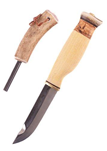 dmesser mit Feuerstahl Campingset Jagdmesser Outdoormesser Ritter Mittelalter Survival verkauf ab 18 Jahren ()