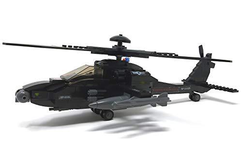 Modbrix 1484020 – ★ Bausteine Apache AH-64 Kampf Hubschrauber mit LED Beleuchtung & Sound inkl. custom US ARMY Special Forces Soldaten aus original Lego© Teilen ★ - 7