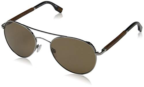 Ermenegildo Zegna Unisex-Erwachsene ZC0002 08J 56 Sonnenbrille, Grau (Antracite Luc/Roviex),