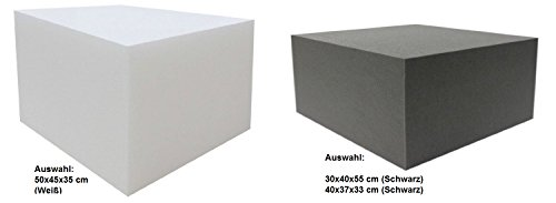 Dibapur Orthopädischer Bandscheibenwürfel Anthrazit/Schwarz (Ohne bezug) - (30x40x55 cm) Stufenlagerung, Stufenlagerungswürfel, Stufenbett, Reha, Orthopädischer, Kaltschaum, Positurkissen, Lagerungskissen, Stufenlagerung