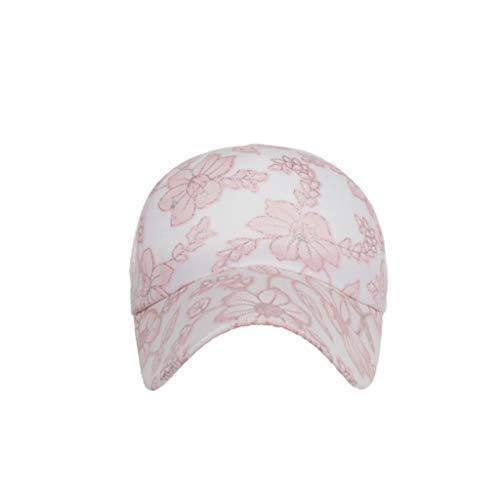 (Junjie Sommer Hut Klassische Baseball-Mütze aus Baumwolle mit Baumwollspitze, einstellbare, einfarbige Mützen Blau, Schwarz, Weiß, Rosa, Beige)