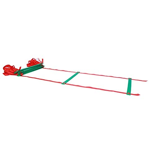 JJSFJH Fussball Leitern - Geschwindigkeits Ladder - Übung Ladder - Training Beweglichkeit Ausrüstung und Anchors -Freier Tragetasche - Beweglichkeit Ausrüstung (Size : 20m)
