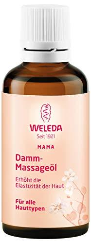WELEDA Damm Massageöl, Naturkosmetik Schwangerschafts- und Körperöl zur Erhöhung der Elastizität der Haut und Vorbeugung von Dammrissen bei der Geburt (1 x 50 ml) -