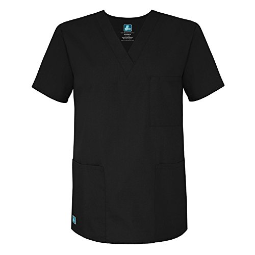 x V-Neck Tunic Top 3 Pockets - 601 - Black - M (Krankenschwester Kostüm In Schwarz)