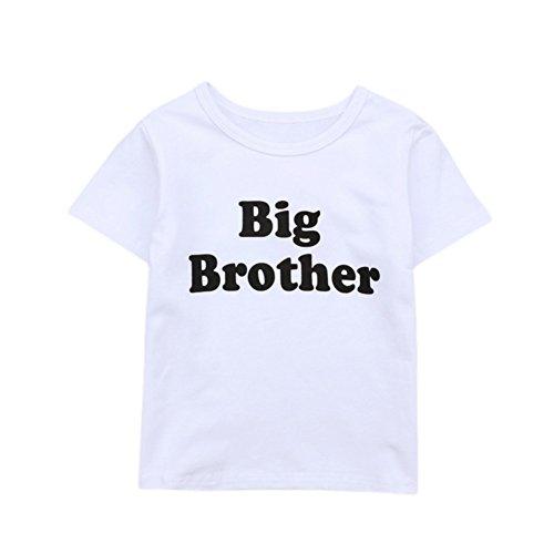 Hongyuangl Little Brother Strampler, Big Brother Printed T Shirt, Kinder Baby Boy T Shirt/Body, Baumwolle T Kurzarm-Tops (Bruder-t-shirts Big-brother-kleiner)