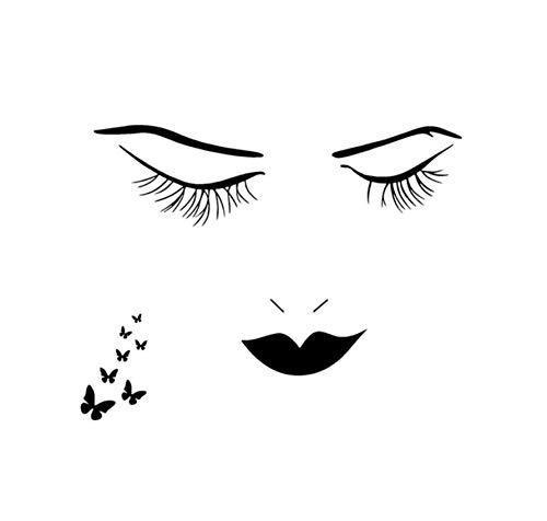 DIY Wimpern Schmetterling Wandaufkleber Frau Charme Ausdruck Wand Zitat Aufkleber Aufkleber Wohnkultur Kunst Aufkleber 3D Tapete