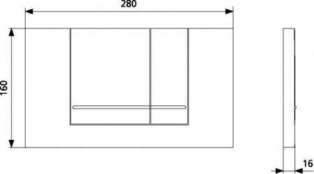 SANIT Betätigungsplatte M806 für 2-Mengenspülung alpin-weiß