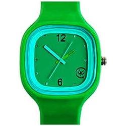Urbanz TIME-G Funky Rubber Strap Unisex Watch - Green