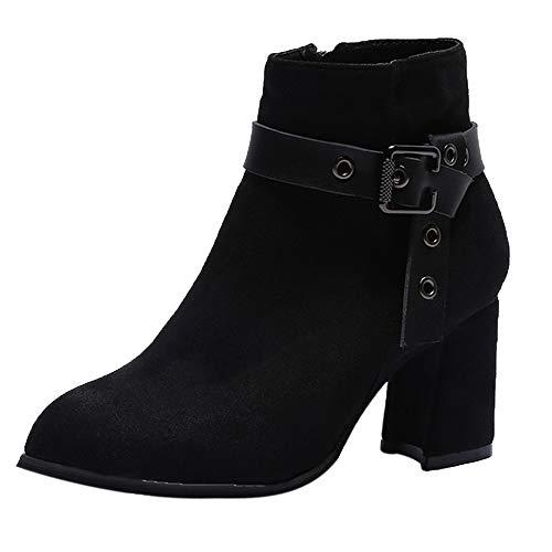 Damen Schuhe Mode Elegant Schuhe für Party, Freizeit Weinlese-Art-Frauen-Flache Booties-Weiche Schuhe stellten Füße Knöchel-Stiefel-Mittlere Stiefel SanKidv