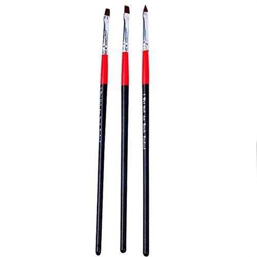 Fangfeen Bunte 3pcs Set UV Gel-Nägel Nail Art Pen Maniküre Nails Zeichenwerkzeuge