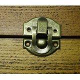 Paire de fermoirs pour boucles métalliques captures petite boîte, etc. Finition bronze avec cadeau offert (de Celtic Woods portefeuille C026 calendrie