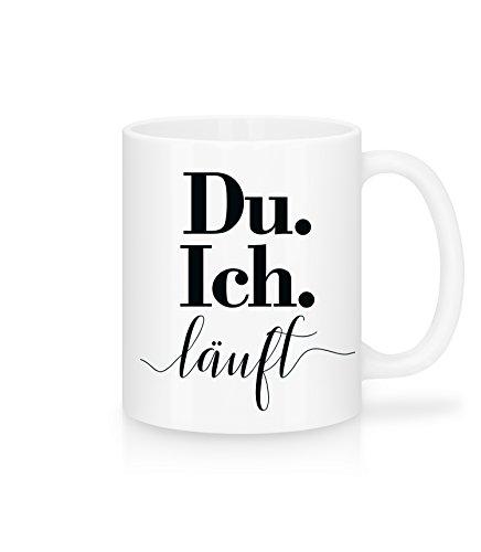 Lustige Kaffee-Tasse | Du. Ich. Läuft | Tolle Geschenkidee für Freund-in Valentinstag | Schöne Kaffee-Tasse von Shirtinator®