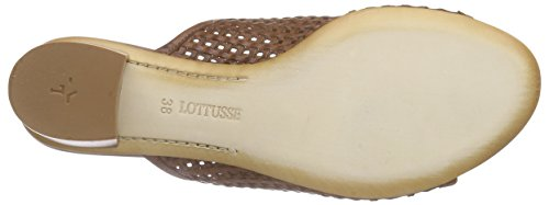 Lottusse S8610-10092-01 Damen Pantoletten Beige (BRIGHT CUERO)
