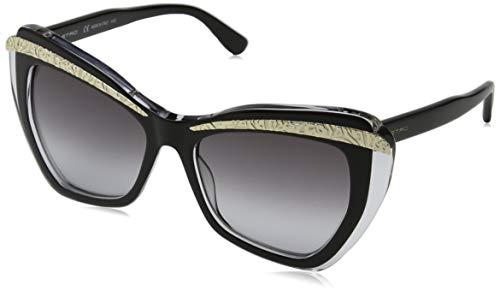Etro et645s 009 55 occhiali da sole, nero (black/crystal), donna