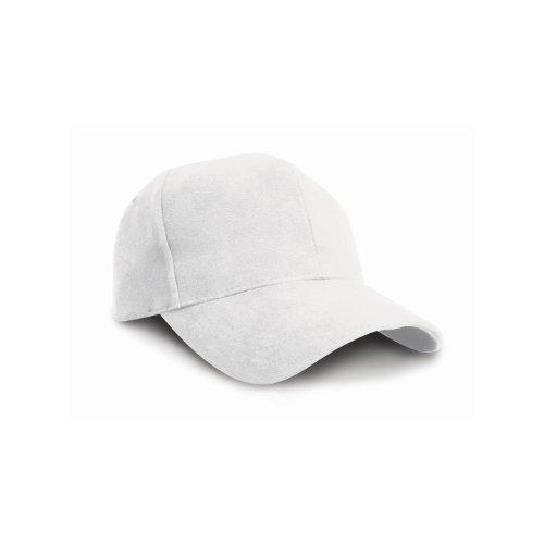 Result - Casquette style pro 100% coton - Adulte unisexe (Taille unique) (Blanc)