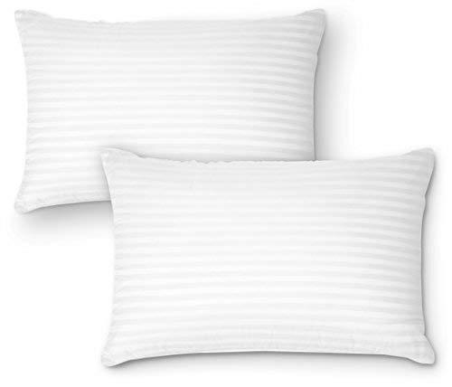 DreamNorth Premium Gel Kissen Loft (2Stück) Plüsch Gel-Bett Kissen für Zuhause + Hotel Collection [gut für Seite und Rückseite Sleeper] Baumwolle, resistent gegen Staubmilben und hypoallergen Queen -