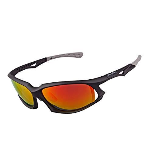 Retro Vintage Sonnenbrille, für Frauen und Männer Sport-Sonnenbrille polarisierte Gläser TR90 Full Frame Superlight for Männer im Freien Frauen Fahren Radfahren Anti-UV-Anti-Rutsch-Schutz