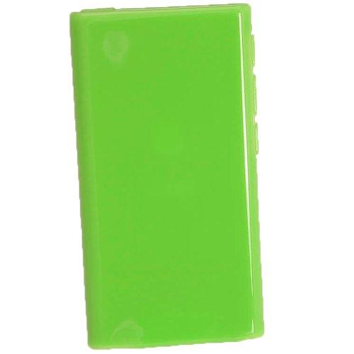 igadgitz Grün Glänzend Dauerhafte Kristall Gel Tasche TPU Hülle Schutzhülle Etui für Apple iPod Nano 7. Gen Generation 7G 16GB + Displayschutzfolie - 3. Ipod Nano Gb 16 Generation