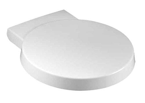 WC-Ersatzdeckel mit sanft schließenden Scharnieren, rund, unten & oben zu befestigen (Metall-scharniere Wc-sitz Runde)