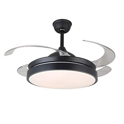 Hogar Ventilador Techo Ventilador de techo con lámpara Ventilador invisible de techo Lámpara de restaurante...
