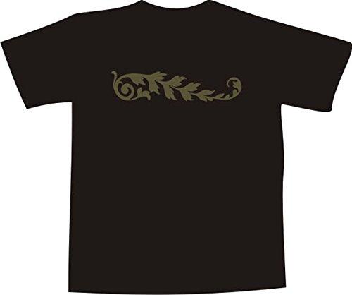 T-Shirt F1056 Schönes T-Shirt mit farbigem Brustaufdruck - tribal Farn Blatt Mehrfarbig