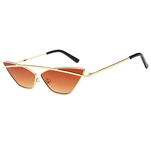 Yangjing-hl Dreieck cat Eye Sonnenbrille weibliche rahmenlose Ozean stück Mode persönlichkeit Retro Sonnenbrille goldrahmen Tee stück