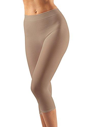 FarmaCell 122 (Beige, L/XL) Massierende und reduzierende lange Hose mit Anti-Cellulite Effekt